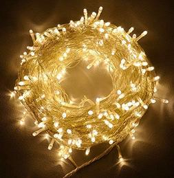 100ft/30m Warm White 300 LED Outdoor & Indoor Battery Fairy