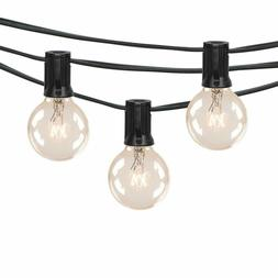 100Ft G40 Outdoor Patio String Lights Set with Clear Globe B