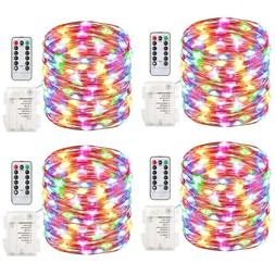 100LED 33FT Battery Powered Color Changing Copper String Fai