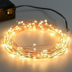 100LED 33ft  LED Fairy String Lights USB Copper Wire Bedroom