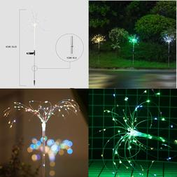 100Leds Solar Firework Light 2 Pack Color Changing LED Coppe