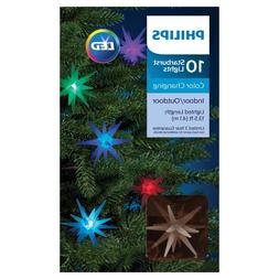 Philips 10ct Christmas LED Frosted Starburst String Lights
