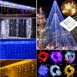 10FT-32FT String Indoor/Outdoor Christmas Icicle Snowing Cur