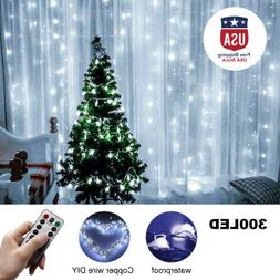 10ft Curtain Fairy LED String Lights Party Christmas Tree De