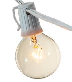10FT Patio String Lighting Vintage Globe Bulbs Incandescent