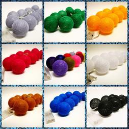 10L Cotton Balls LED String Lights, Party,Patio,Wedding,Holi