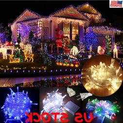 10M 100 LED Xmas Christmas Party In/Outdoor Fairy String Lig