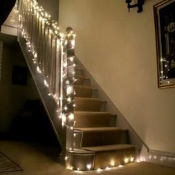 10M 100 LED Xmas Halloween Warm White Wedding Decor Outdoor
