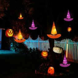 10M 6PCS Halloween Decorations Witch Hats Caps String Lights