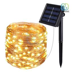 10m LED Outdoor Solar Lamp <font><b>100</b></font> LEDs <fon