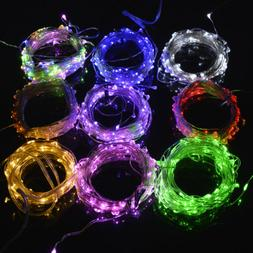10M LED String Fairy Lights 100leds Battery Operated IR Remo