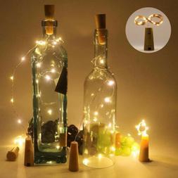 10pcs Warm Wine Bottle Cork Shape Lights 20 LED Night Fairy