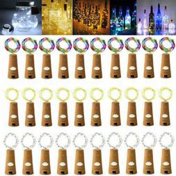 10pcs Wine Bottle Fairy String Lights 20 LED Battery Cork Fo