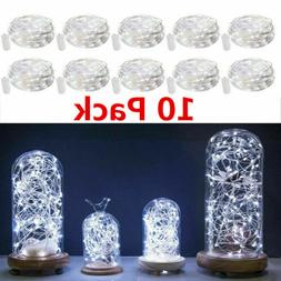 10x 20 LED 2M Waterproof LED MICRO Silver Copper Wire String