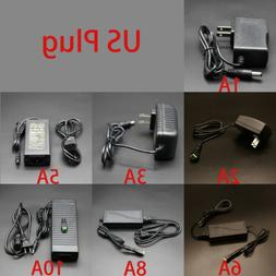 110V-AC-DC 12V Adapter 1A/2A/3A/5A/6A/8A/10A Power Supply US