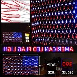 110v led flag net lights indoor outdoor
