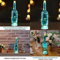 "12"" LED Wine Bottles W Lights Inside Them BLUE Glass Bottle"