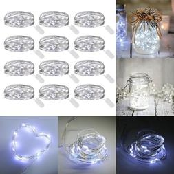12 Pack 6.6ft 20 LEDs Battery Operated Mini LED Copper Wire