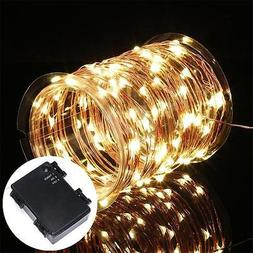 2X 120LED String Strip Light Fairy Battery Powered Copper Wi
