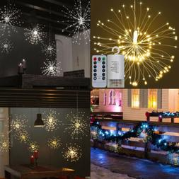 120 LED Fireworks Starburst Dimmable Starry String Lights wi