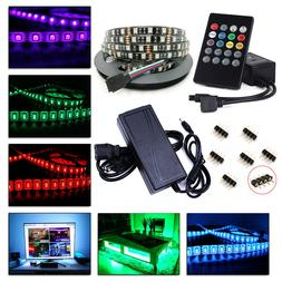 12V 5M 10M 5050 RGB SMD LED Strip Lights 20 Key Music Remote