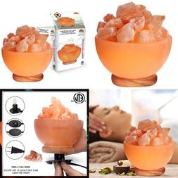 1326 Natural PINK Salt Bowl Night Lamp 6 8 Lbs STRING LIGHTS