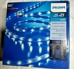Philips 15 ft Flat Rope LED Light BLUE  NEW IN BOX