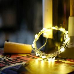 15 Leds DIY Bottle Cork String Lights Silver Wire Starry Lig