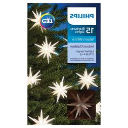 PHILIPS 15 LED WARM WHITE INDOOR/OUTDOOR CHANGING STARBURST