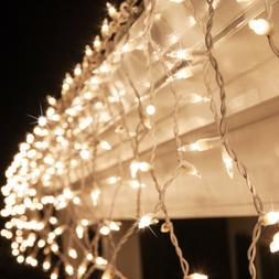 150 Icicle String Lights Indoor Outdoor Christmas Icicle Lig