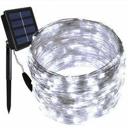 15M Solar Power Lights LED String Light Strip Waterproof Dim