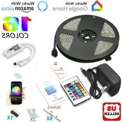 16.4ft 150LED Alexa Smart Home WIFI Wireless RGB Waterproof