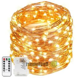 16.4ft 50LEDs Copper Wire Twinkle Battery Powered String Fai