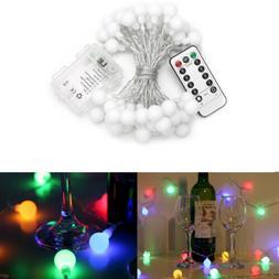 16.4FT LED Globe String Lights Multi-color Battery Powered w