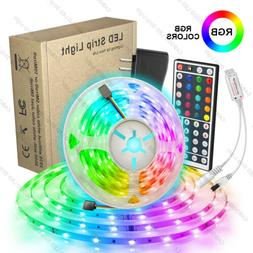 16.4ft RGB LED Light Strip 5050 LED Tape Lights with Remote