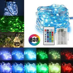 16ft 50LED Copper Battery Powered Multi Color Changing Strin