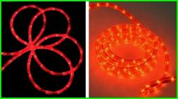 * 18 FOOT RED Brite Star STRING of 170 ROPE LIGHTS Indoor /