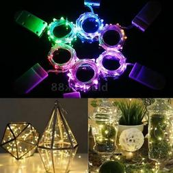 1M 10 LED Mini Starry LED Copper Wire String Fairy Lights Ba