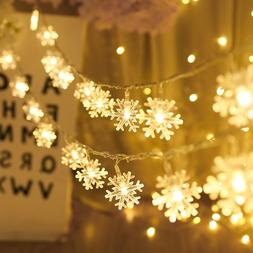 1M/3M Snowflake LED <font><b>String</b></font> <font><b>Ligh
