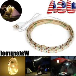 1m USB Powered 60 LED Strip String Outdoor Hiking Camping Su