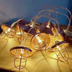 1pc String Light Classical Iron Geometric 20 LEDs String Lig