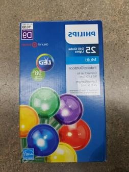 Philips 25ct Multicolor LED Smooth G40 Globe String outdoor
