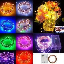LED String Copper Wire Fairy Lights Battery Operated Xmas Pa