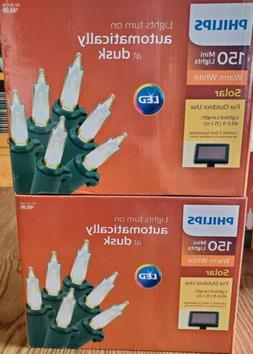 2 Boxes Philips 150ct Solar Powered LED Mini String Lights -