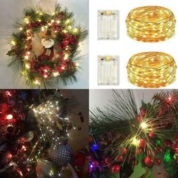 2 Pack Battery Operated Led Lights,Mini Led Fairy Lights Wit