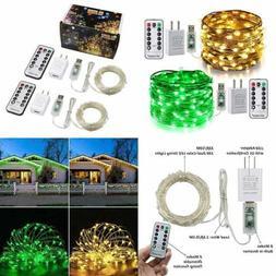 2 Pack Color Changing Fairy Lights Plug In 33Ft 100 LED USB
