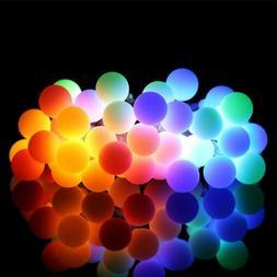 2 PACK LED String Lights 14.8ft 40 LED Waterproof Ball Light