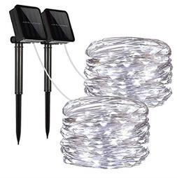 2 Pack Solar String Lights Copper Wire Waterproof Outdoor fo
