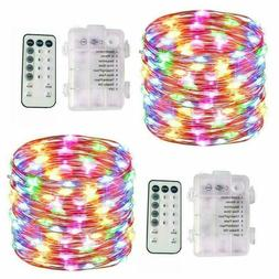 2 Pcs 100LED Fairy String Lights Battery Operated with Remot