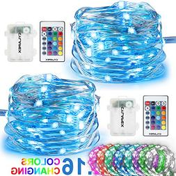 CYLAPEX 2 Set Fairy Lights Multi Color Changing with Remote,